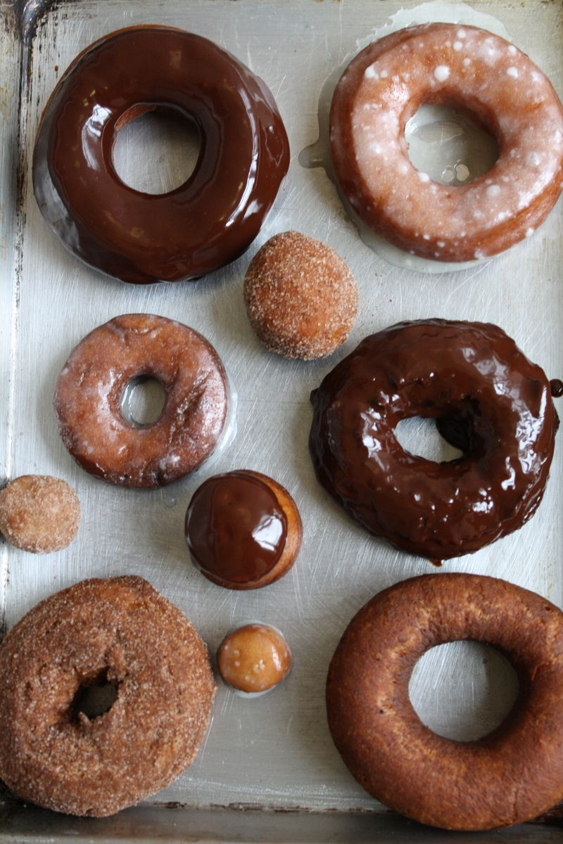 Glazed and Powdered Donuts